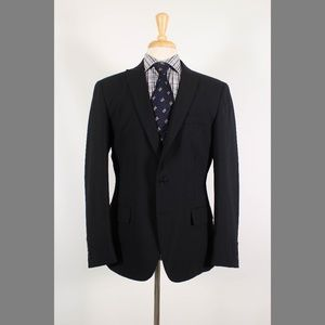 John Varvatos 42R Black Sport Coat B182